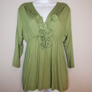 Coldwater Creek green blouse size M